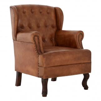 buffalo-light-brown-leather-armchair