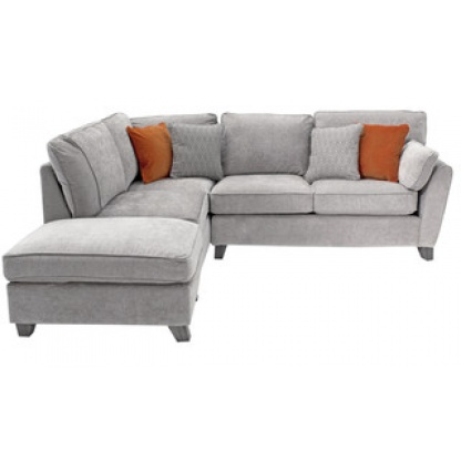 Cantrell-Corner-Sofa-Group-in-Silver-Fabric