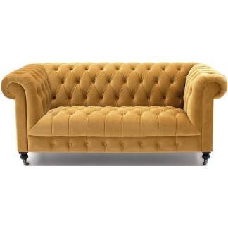 Darby Mustard Velvet 2 Seater Sofa