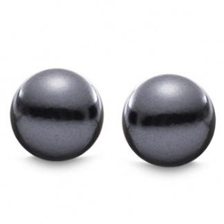 round-black-stud-earrings