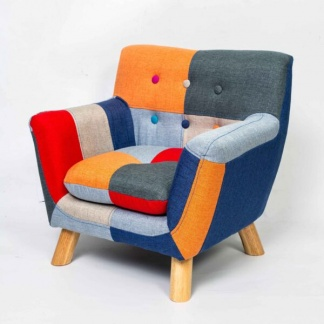 Annah Patchwork Armchair at Teds Interiors Newry - angle