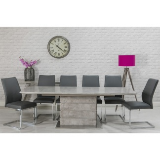 Delta Extending Dining Table at Teds Interiors Newry - extended