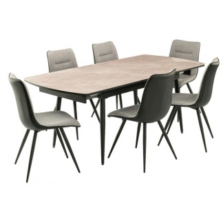 Nuna Extending Dining Table with 6 Chairs at Teds Interiors Newry catalogue image