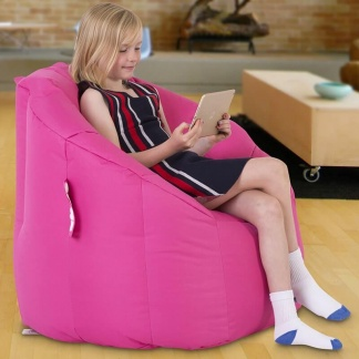 Upholstered Bean bag Chair Pink at Teds Interiors Newry