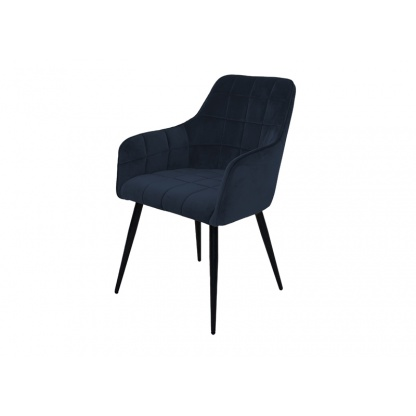 Vienna Dining Chair Navy Velvet Quilted Seat and Back at Teds Interiors Newry