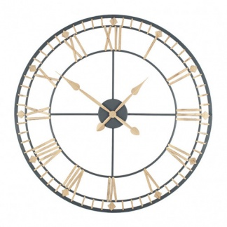 Antique Bronze & Gold Metal Round Wall Clock at Teds Interiors Newry