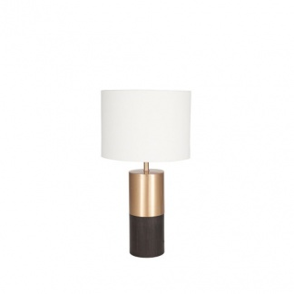 Etosha Darkwood and Gold Metal Table Lamp at Teds Interiors Newry