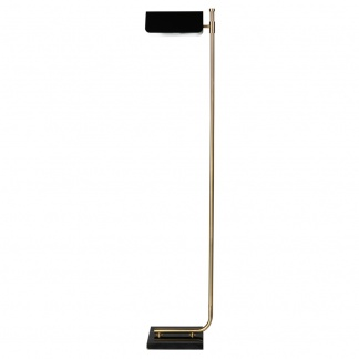 Carmen Floor Lamp Gold and Black 150cm at Teds Interiors Newry
