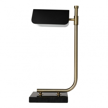 Carmen Table Lamp in Gold and Black 51cm at Teds Interiors Newry