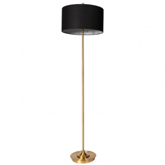 Elsa Floor Lamp in Black and Gold 158cm at Teds Interiors Newry